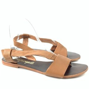 Free people sandals under wraps 8 38 brown leather